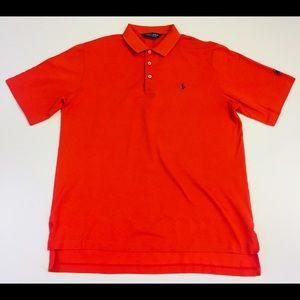Ralph Lauren Mens L 100% Pima Cotton Red Golf Polo
